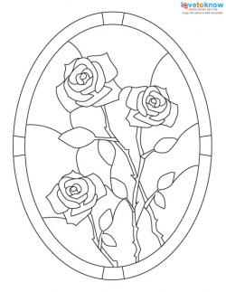 image relating to Free Printable Stained Glass Patterns called Cost-free Stained Gl Designs LoveToKnow