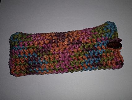 Crocheted sunglasses case
