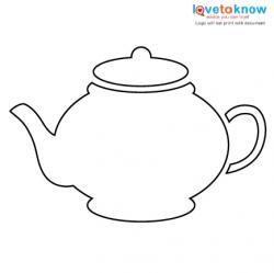 tea pot stencil