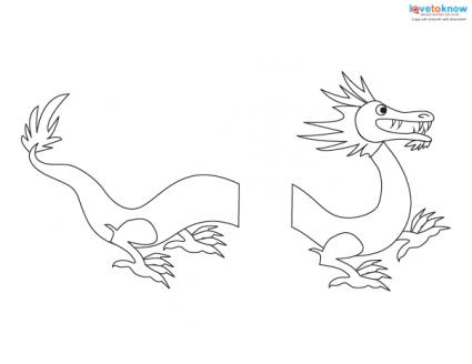 Printable new years crafts lovetoknow for Chinese dragon face template