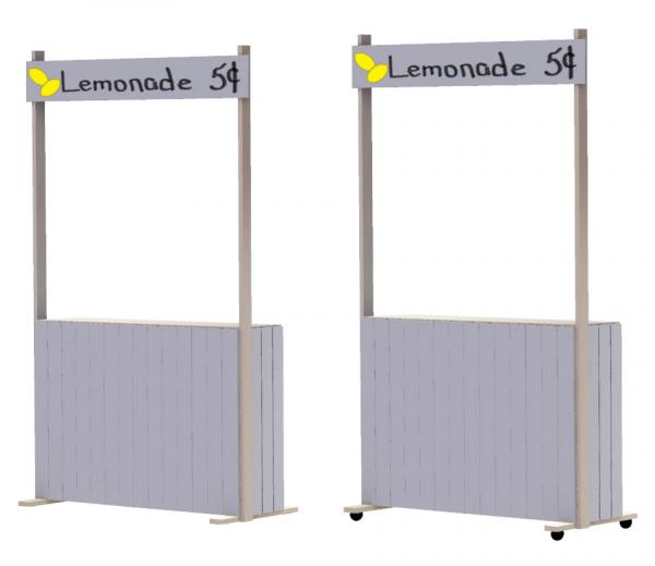 DIY lemonade stand steps 9, 10 and 11