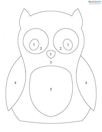 owl mosaic pattern