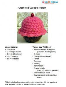 Toy Cupcake Pattern