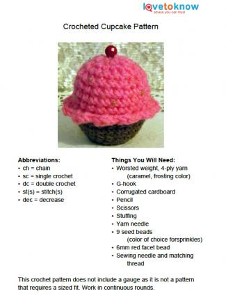 Cupcake Crochet Pattern