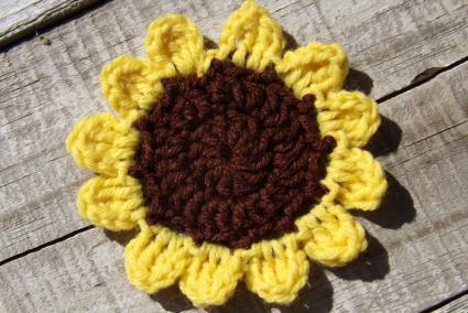 Crocheted Sunflower Pattern