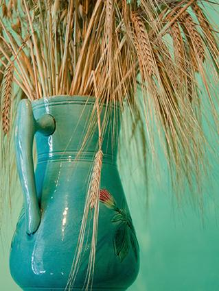Wheat bouquet centerpiece