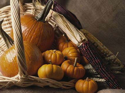 Overflowing Harvest Pumpkins Centerpiece