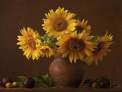 Sunflower Bouquet Fall Centerpiece