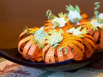 Paper Pumpkin Centerpiece