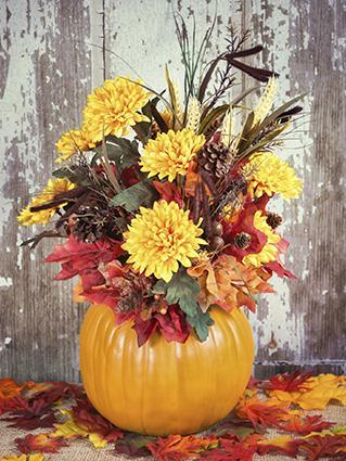 Pumpkin Floral Arrangement