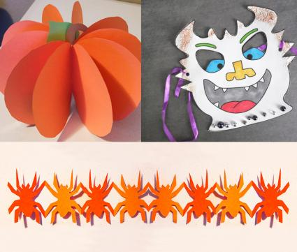 image relating to Halloween Printable known as Halloween Printable Crafts LoveToKnow