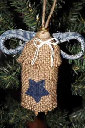 Burlap Clothespin Angel