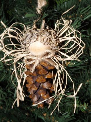 Angel Pine Cone Ornament
