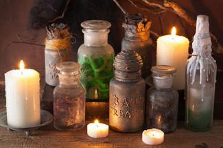 Potion bottles Halloween decoration
