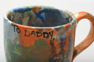 To Daddy Painted Mug