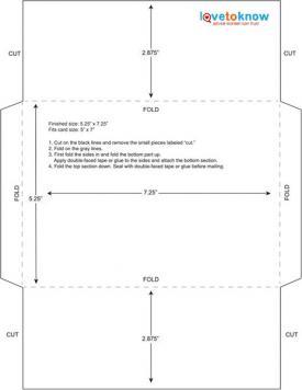 5.25 x 7.25 envelope template