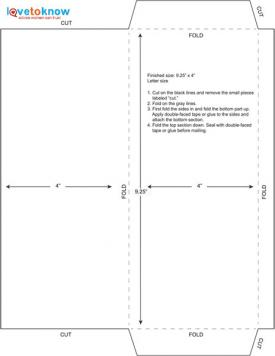 9.25 x 4 envelope template