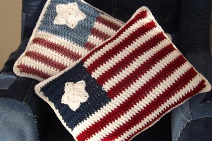 Free Crochet Flag Pillow Pattern