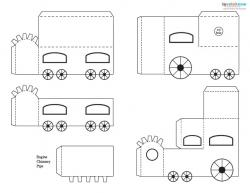 Paper Train Cutout #1