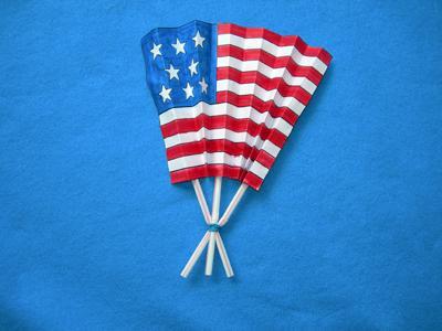 American flag fan // Photo courtesy of Mt. Prospect Public Library