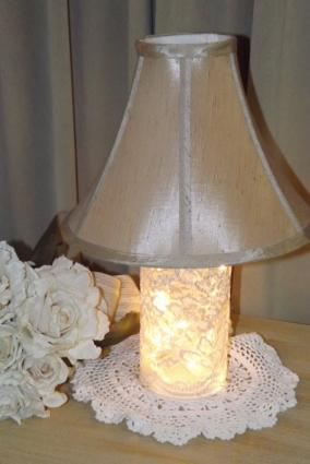 Shabby Chic Bottle Lamp