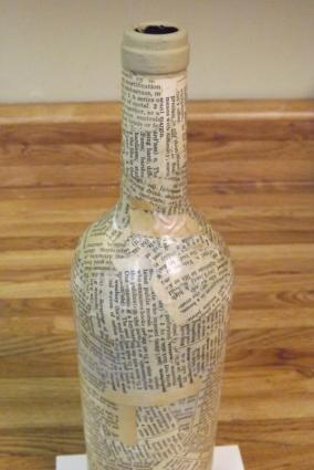 Decoupage the bottle.