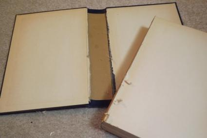 Cut the pages away from the cover.