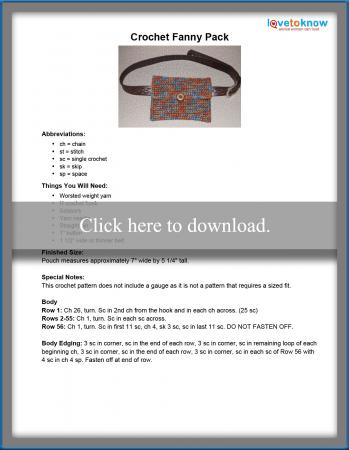 Crochet Fanny Pack Pattern