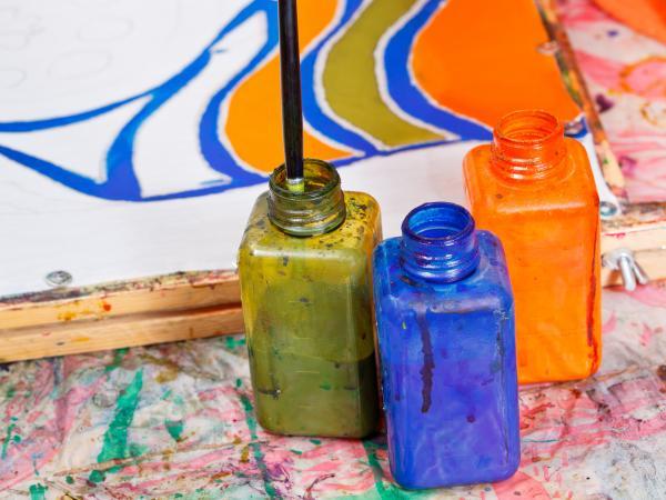 silk dye paints