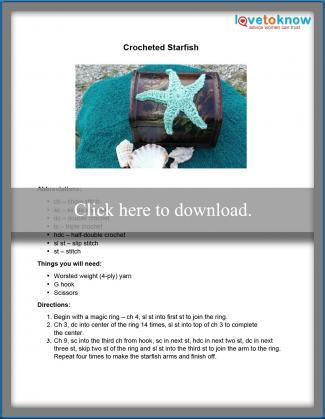 Crochet Starfish Pattern Printable