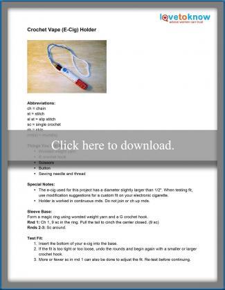 Crochet Vape (E-Cig) Holder Pattern