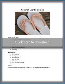 Star Flip Flop Pattern