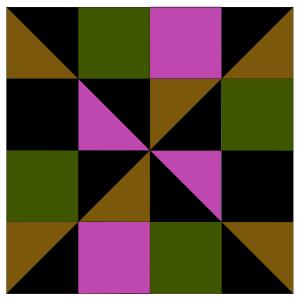 Dark quilt square pattern