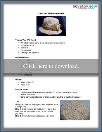 Crochet Fisherman Hat Pattern