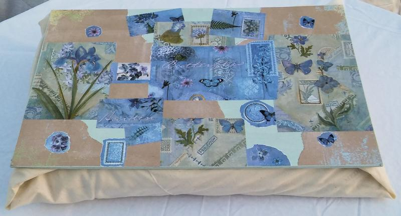 Decoupage lap desk