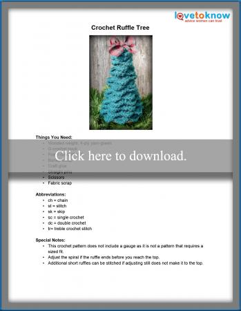 Crochet Ruffle Tree