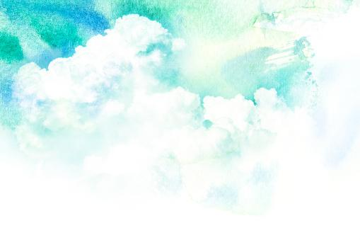 Watercolor illustration of cloud