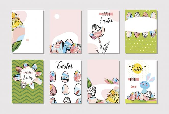 Easter greeting card designs