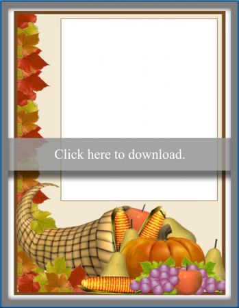 Thanksgiving photo card printable