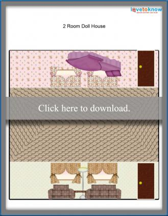 2 room doll house printable paper
