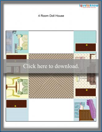 4 room printable dollhouse paper