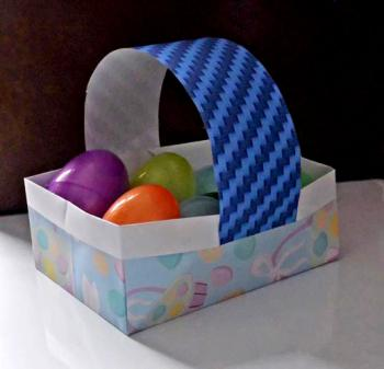 Paper Easter basket