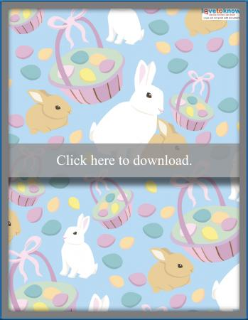 Blue Easter basket template