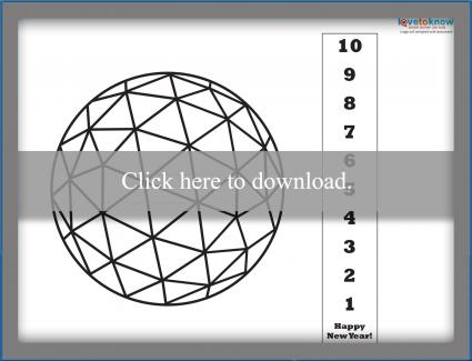 New Year's printable countdown ball