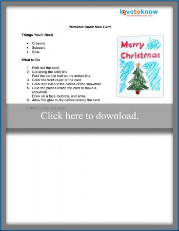 picture relating to Printable Man Card known as Printable Xmas Craft Routines for Small children LoveToKnow