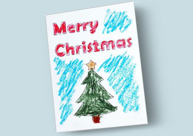 printable merry christmas card
