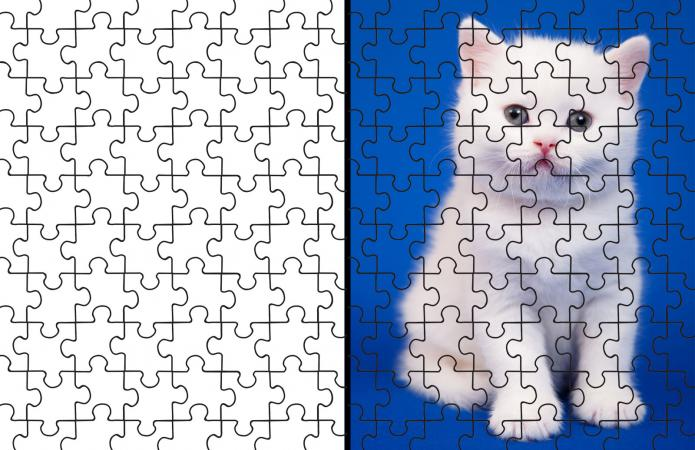 picture relating to Make Your Own Jigsaw Puzzle Printable named Printable Puzzle Parts Template LoveToKnow