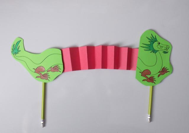 Dragon puppet printable paper craft