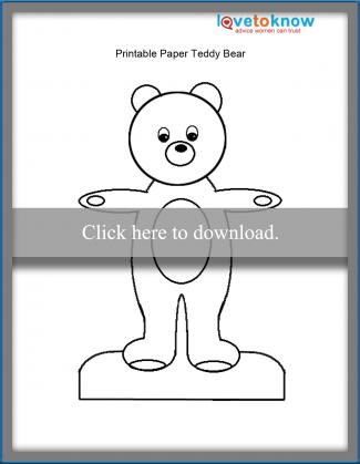 teddy bear paper doll