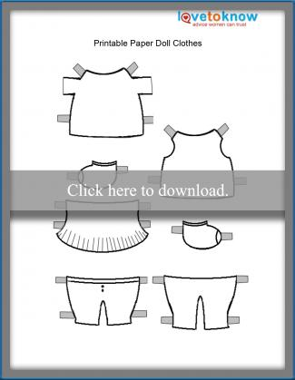 photograph about Paper Doll Clothes Printable named Printable Paper Dolls and Garments LoveToKnow